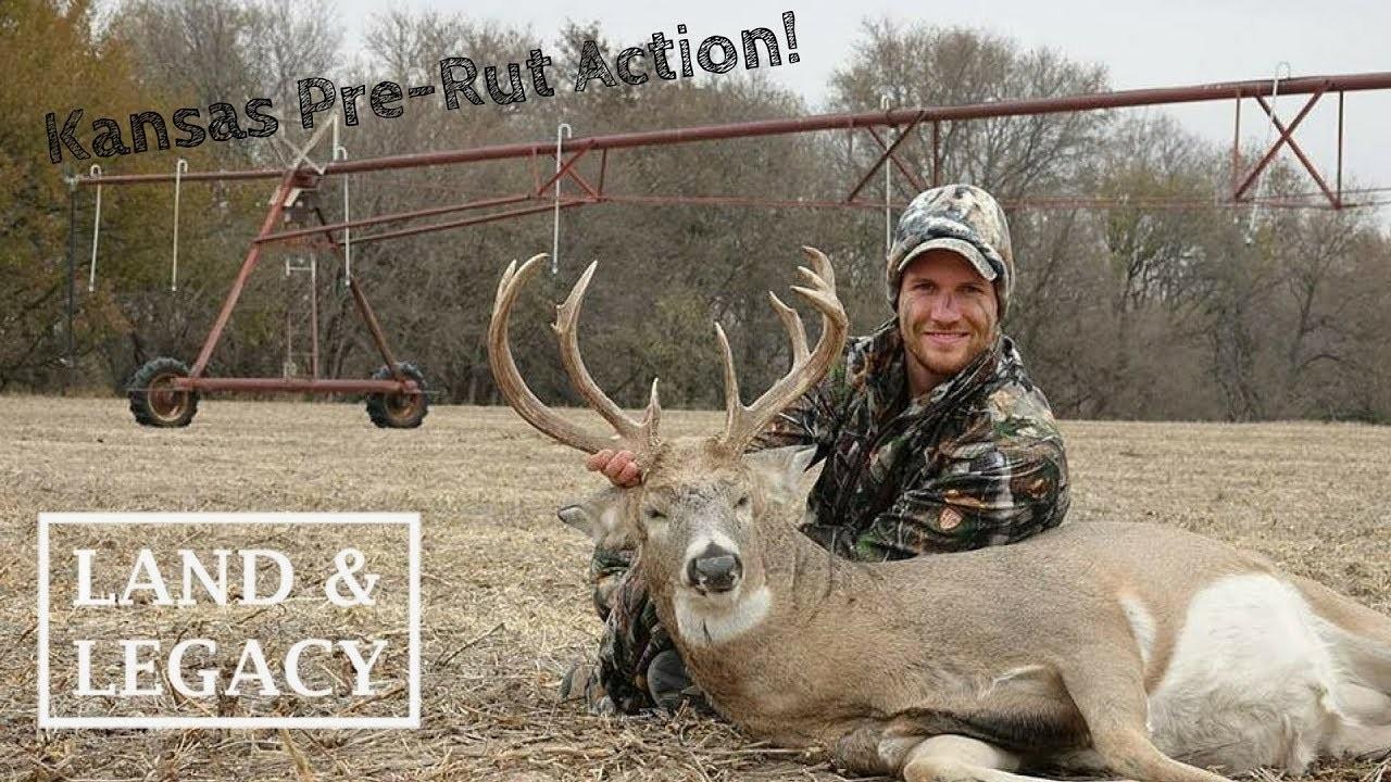 Kansas Pre-Rut Hunt! Bowhunting In November!  Kansas Whitetail Rut Dates
