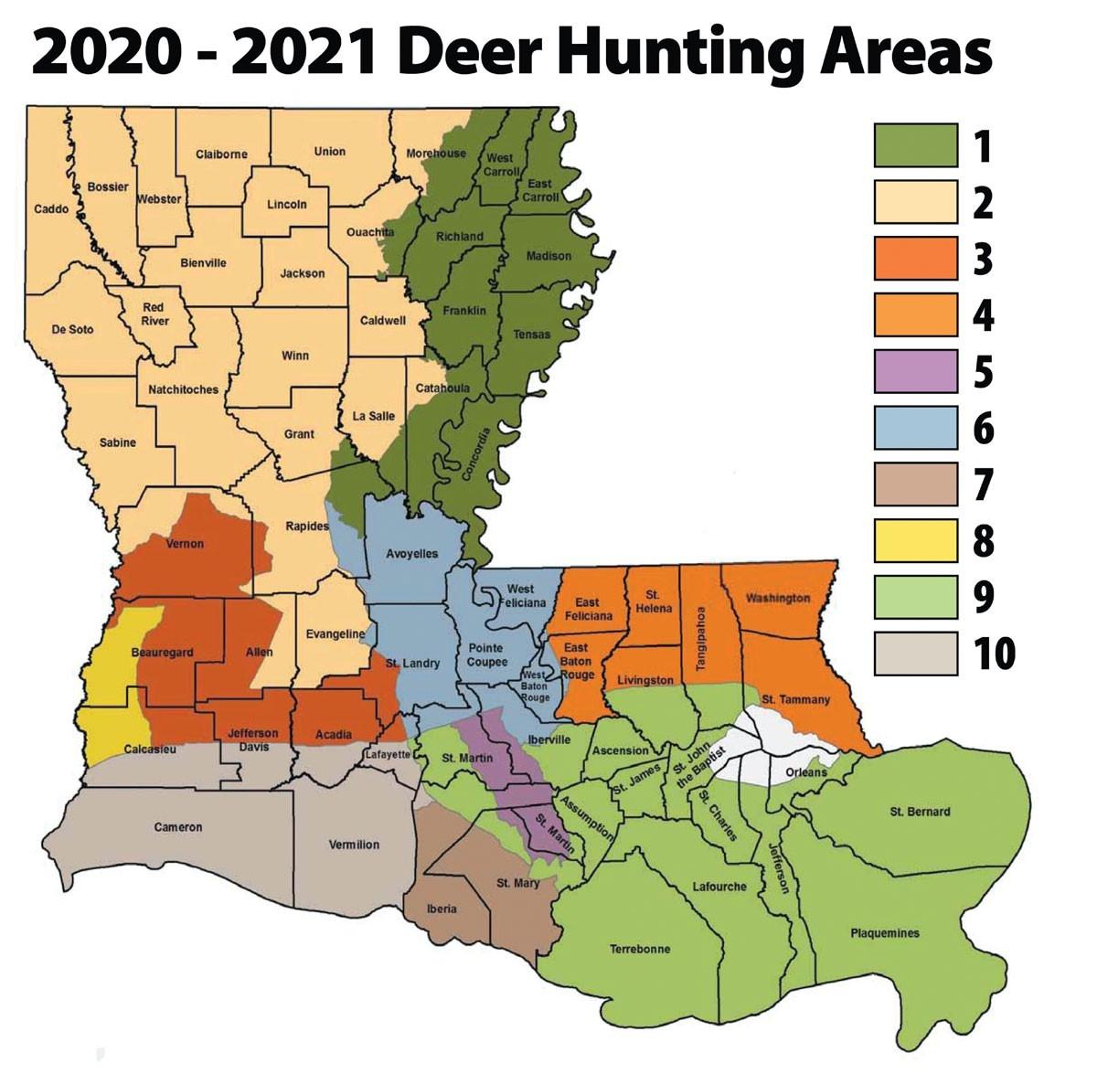 Louisiana'S 2020 Rut Report - Louisiana Sportsman  Whitetail Rut Prediction 2021