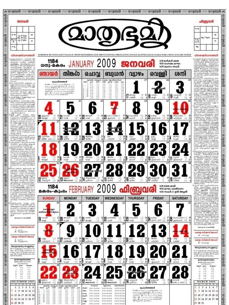 Malayalam Calendar 2019 February | Calendar Format Example  Malayala Manorama Year Calendar Download