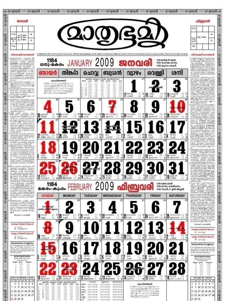 Malayalam Calendar 2019 February | Calendar Format Example  Mathrubhumi Calender 2021
