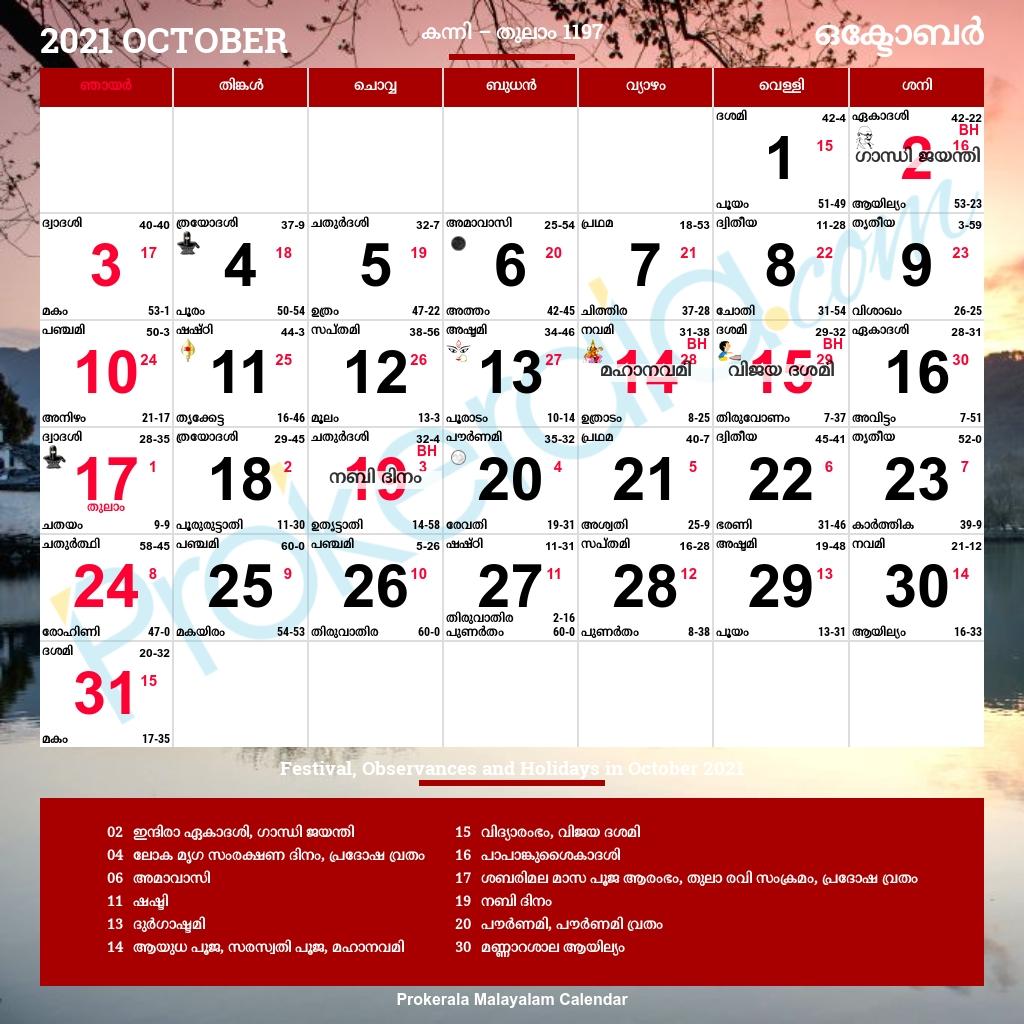 Malayalam Calendar 2021 In 2020 | Malayalam Calendar  Malayalam Calander 2021 Pdf