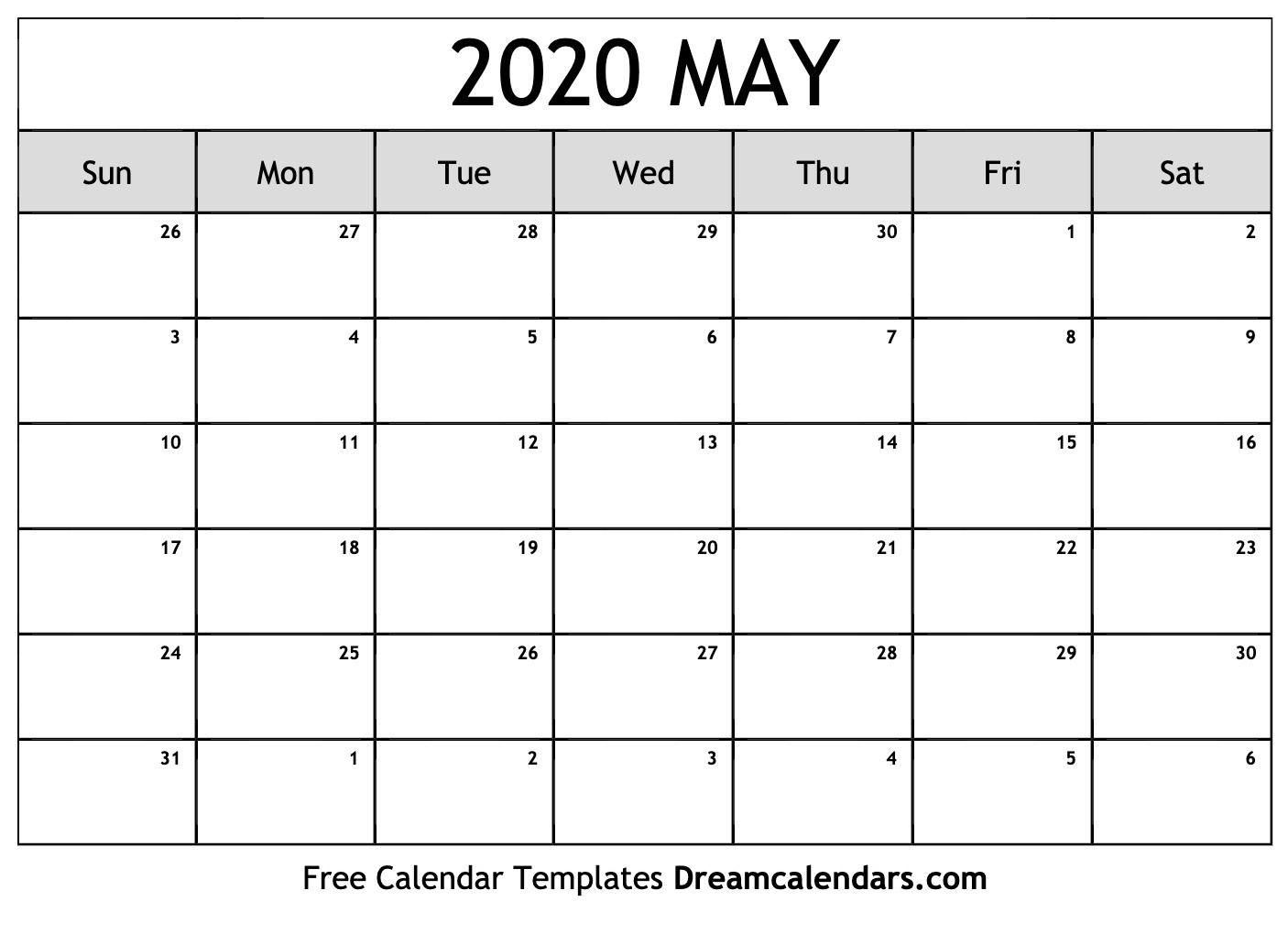May 2020 Calendar | Free Blank Printable Templates  May 2020 Calendar Printable