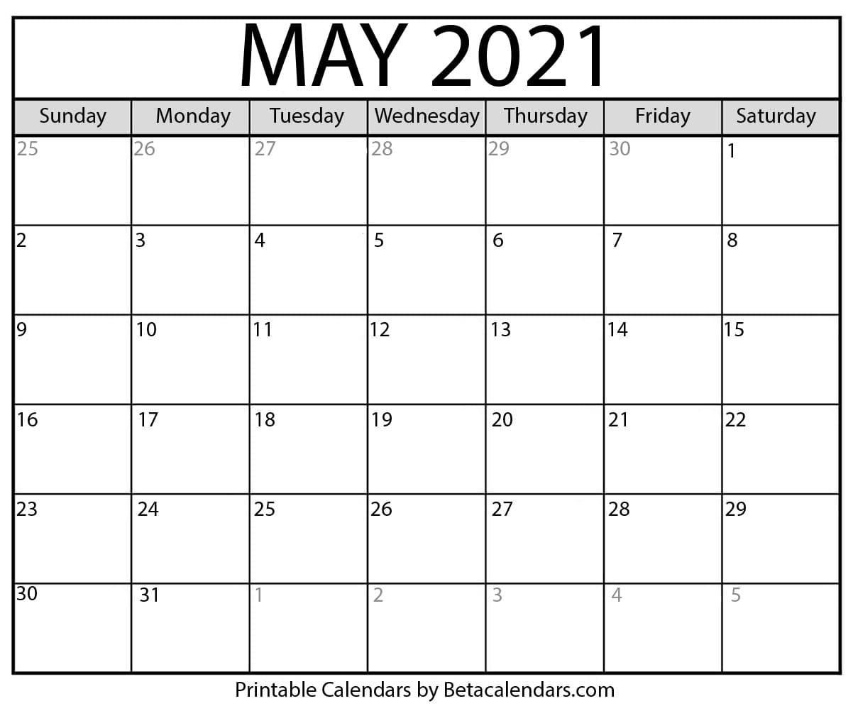 May 2021 Calendar | Blank Printable Monthly Calendars  Military Julian Date Calendar 2021