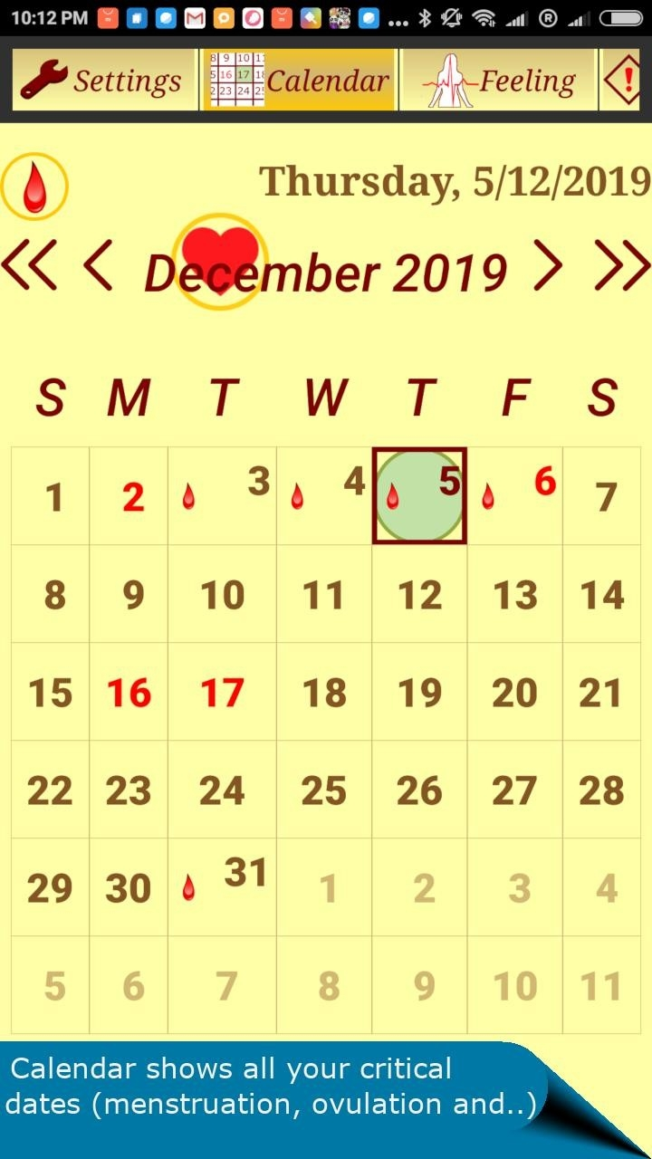 Menstrual Cycle Calendar To Track Menstruations For Android  Contraceptive Calendar For 2021