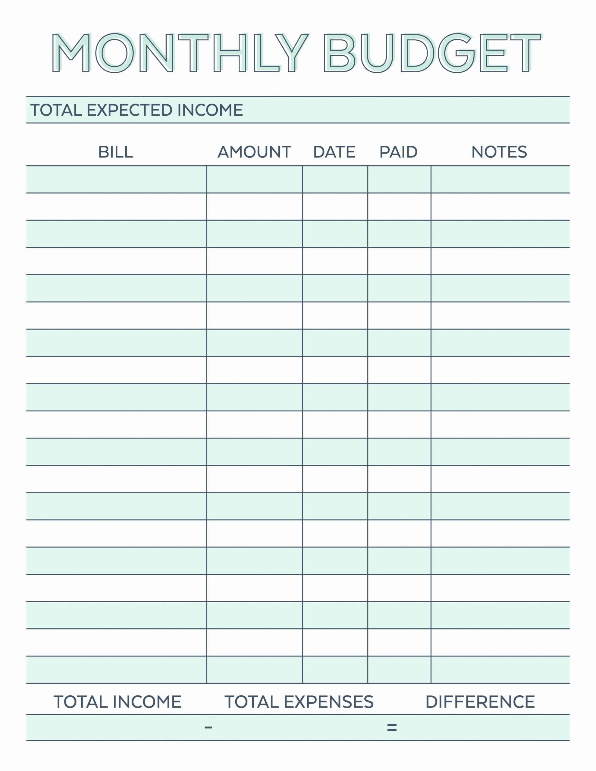 Monthly Budget Worksheet Pdf Inspirational Monthly Bud  Bill Paying Worksheet Pdf