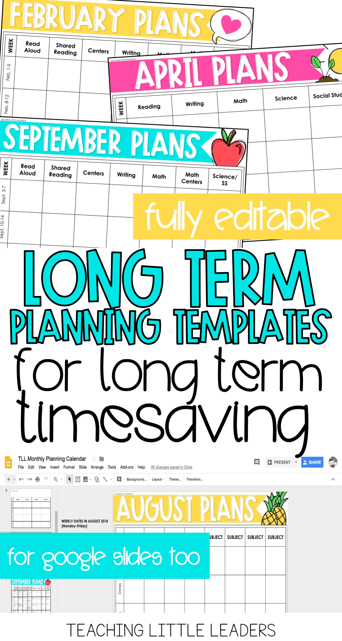 Monthly Planning Calendar Templates {Digital & Editable  Monthly Lesson Plan Calendar