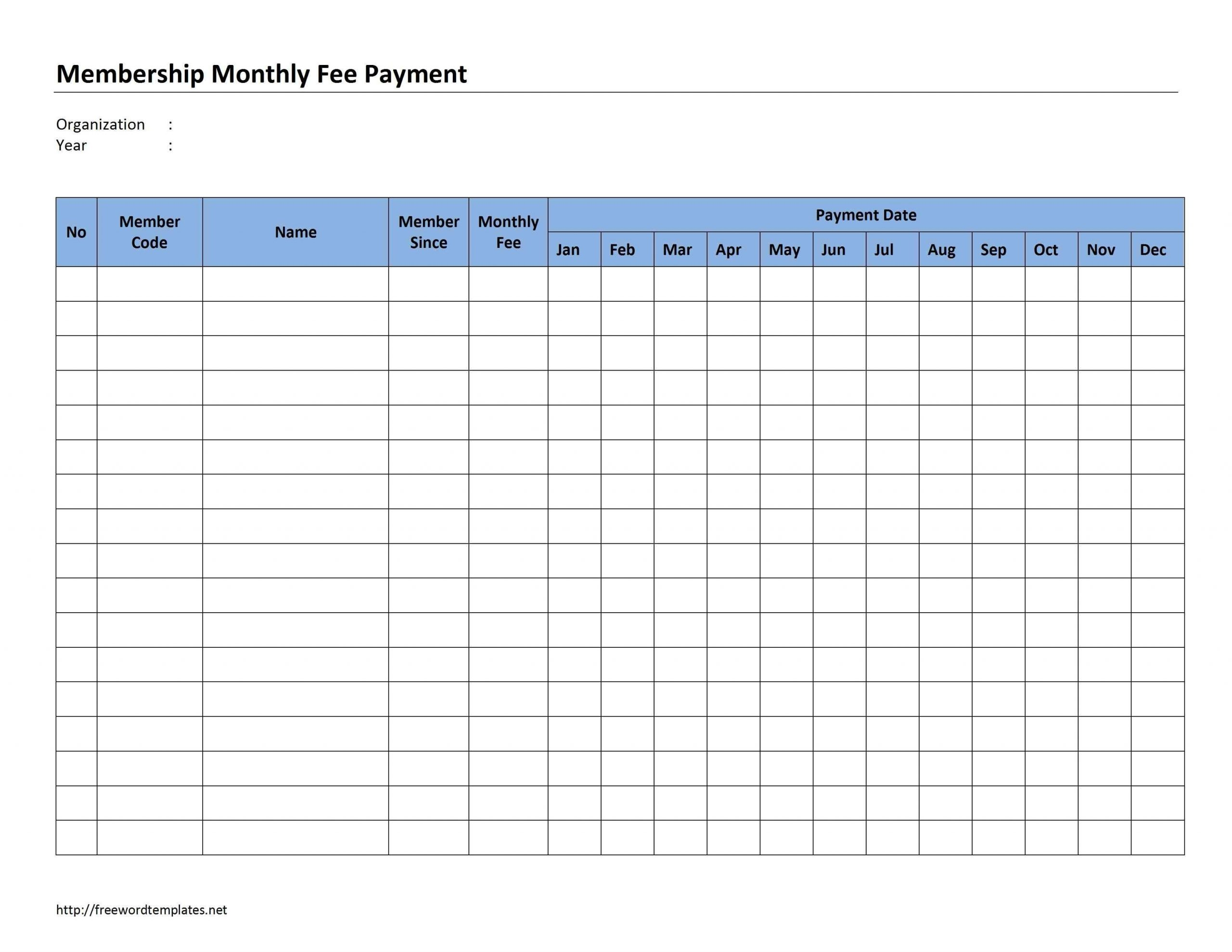 Monthly+Payment+Record+Template | Paying Bills, Spreadsheet  Monthly Payment Sheet