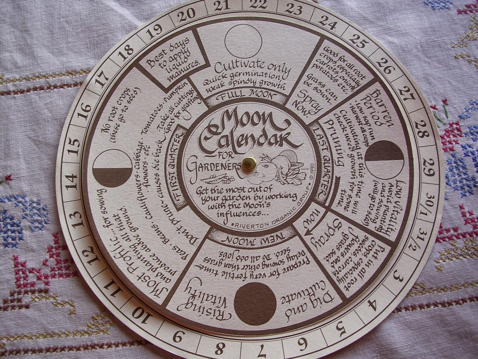 Moon Calendar -  Lunar Garden Calendar