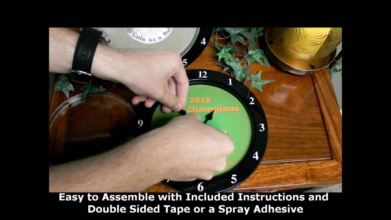 Moving Screen Clock - Item 34006  Wall Calendar Frame Plan - Item 49887