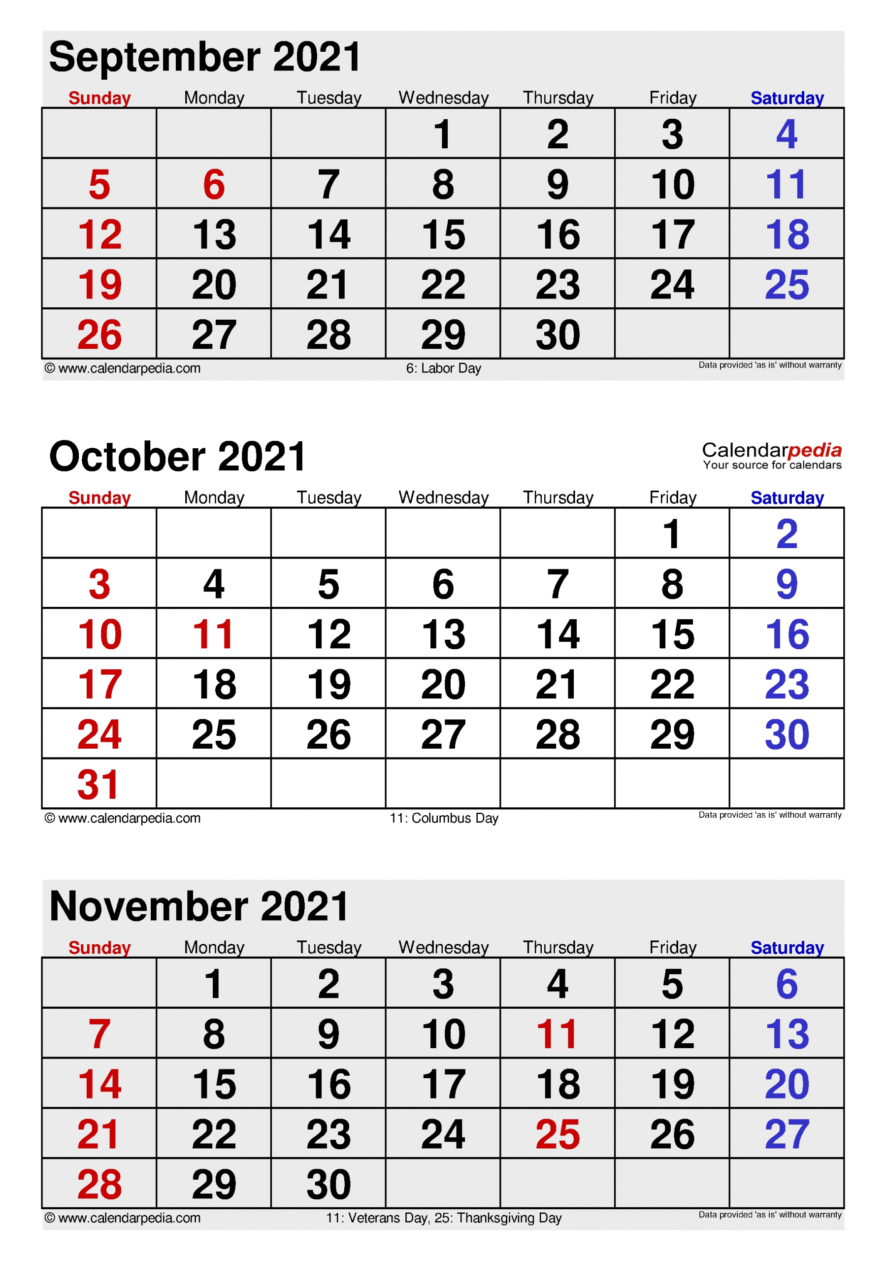 October 2021 Calendar | Templates For Word, Excel And Pdf  Two Month Sept And October Calendar 2021