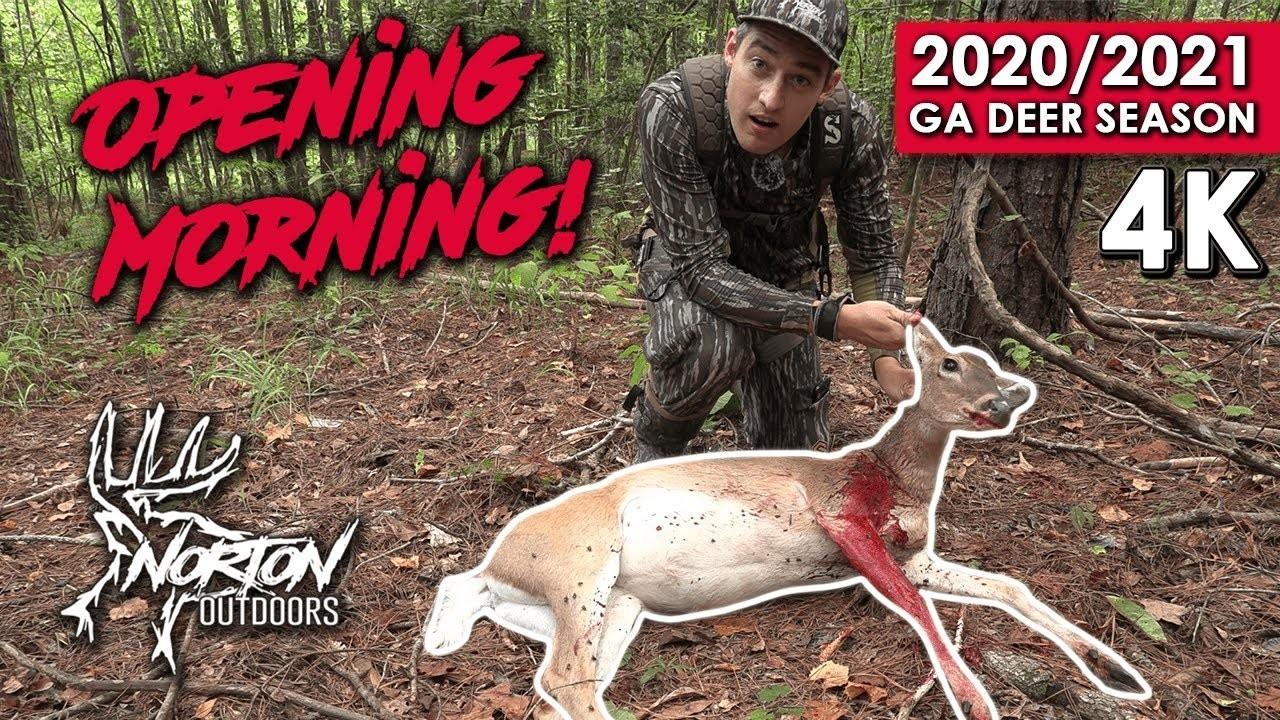 Opening Morning In Georgia | Self Filmed Bow Hunting | 2020-2021 Deer Season  Deer Season For 2021 In Georgia