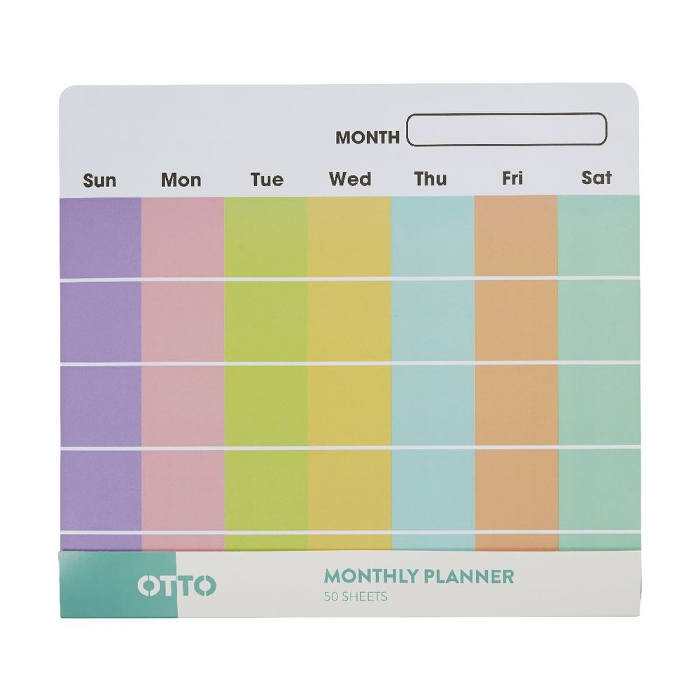 Otto Monthly Planner 254 X 277Mm 50 Pack  Monthly Planner