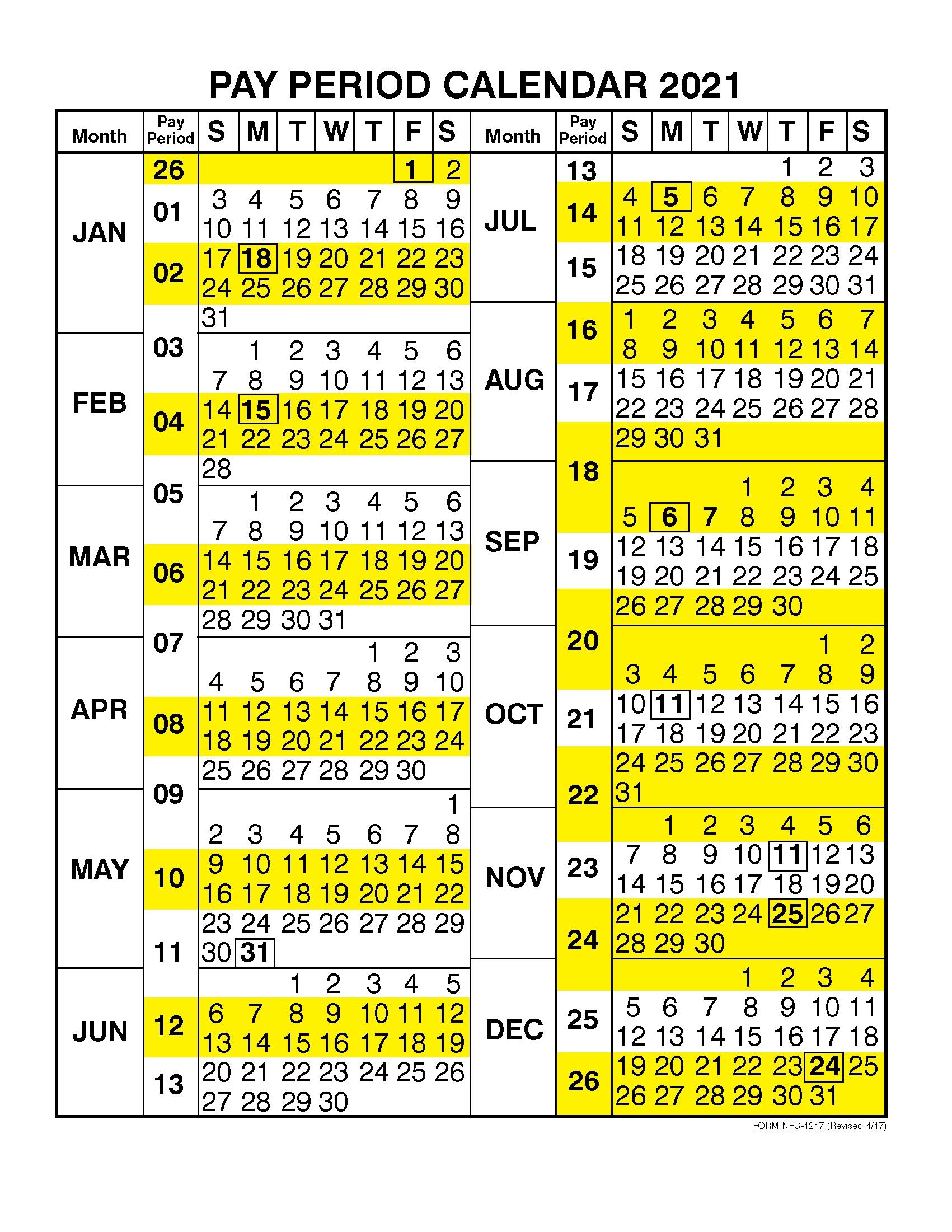 Pay Period Calendar 2021Calendar Year – Free 2020 And  Opm Federal Pay Period Payroll Calendar 2020