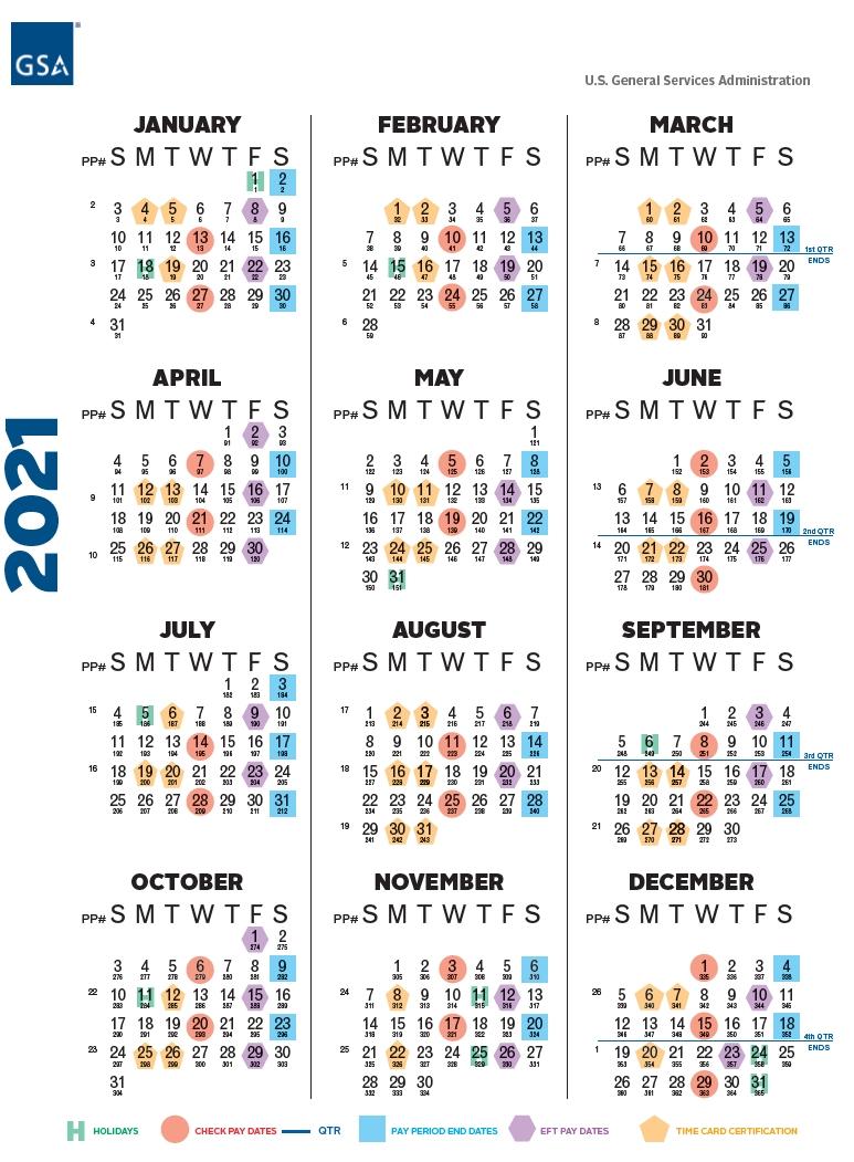 Payroll Calendar 2021  Federal Pp Calendar 2021