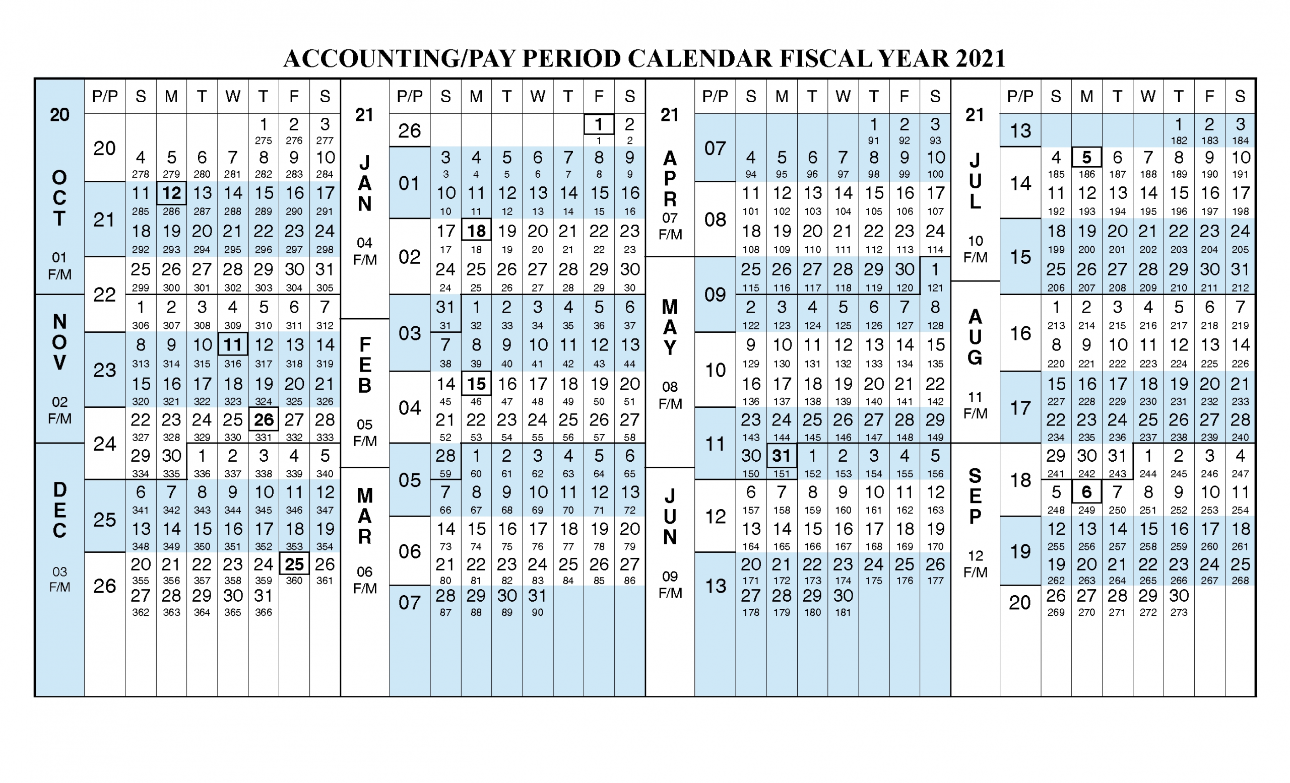 Payroll Calendar 2021 Fiscal Year Calendar [ Oct 2020 – Sep  Printable Fiscal Year Calendar 2021 2021