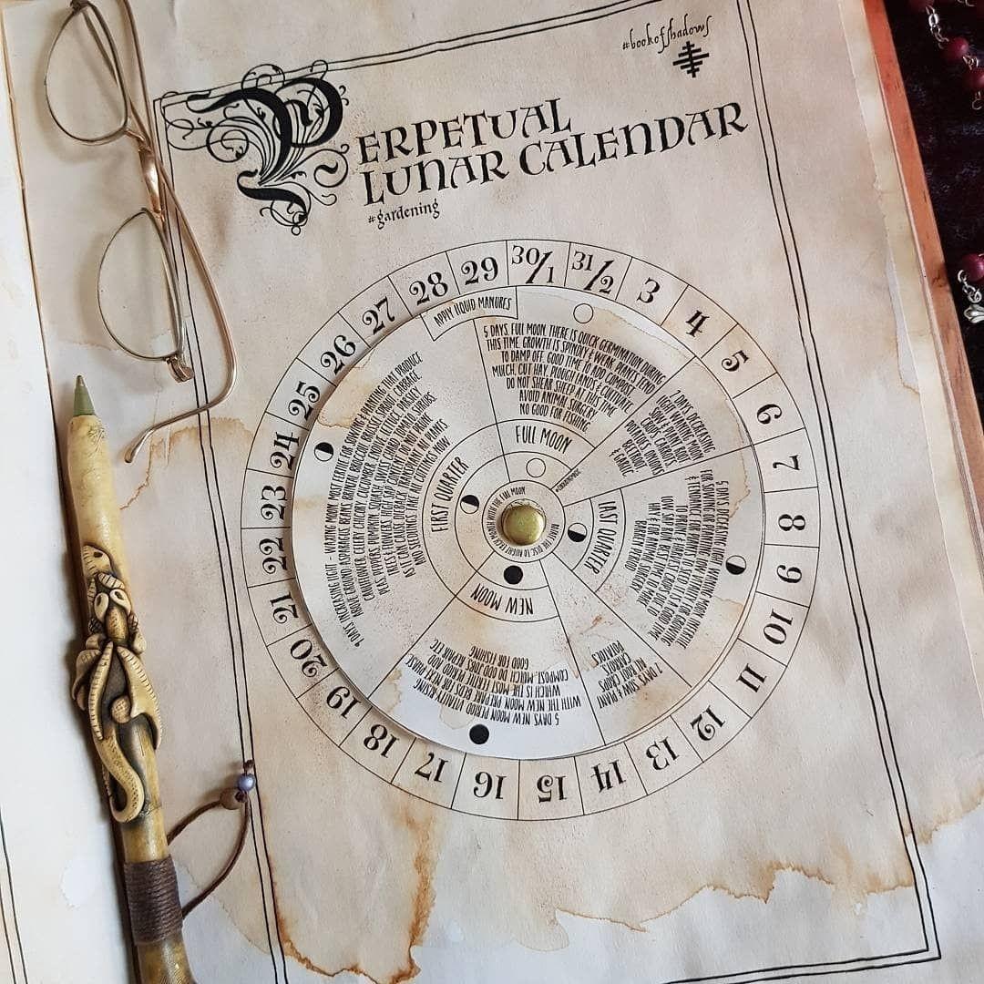 Perpetual Lunar Calendar For Gardeningthe Moon. Because  Lunar Garden Calendar