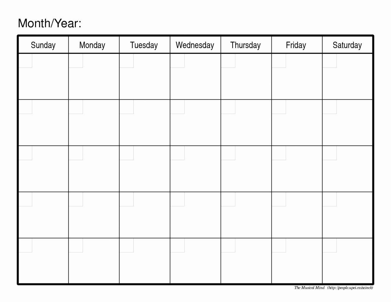 Pin On 300 Blank Calendar Template 2019  Blank 30-Day Calendar
