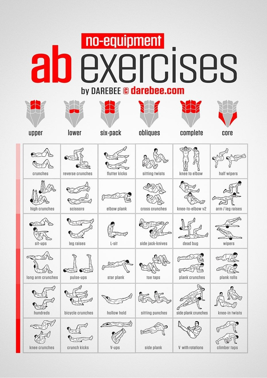Pin On Exercise  30 Day Exercise Chart