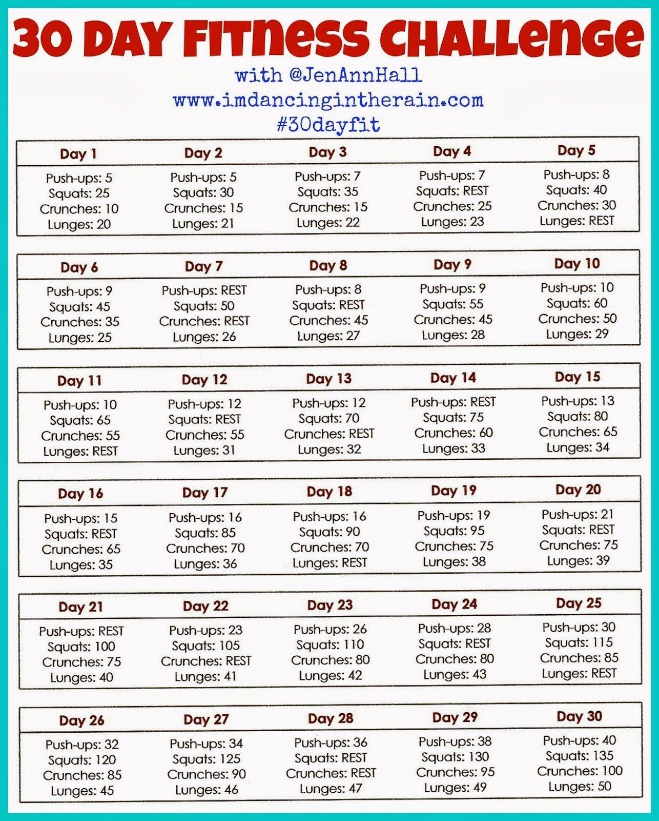 Pin On Fitness  Wellness Challenge Chart