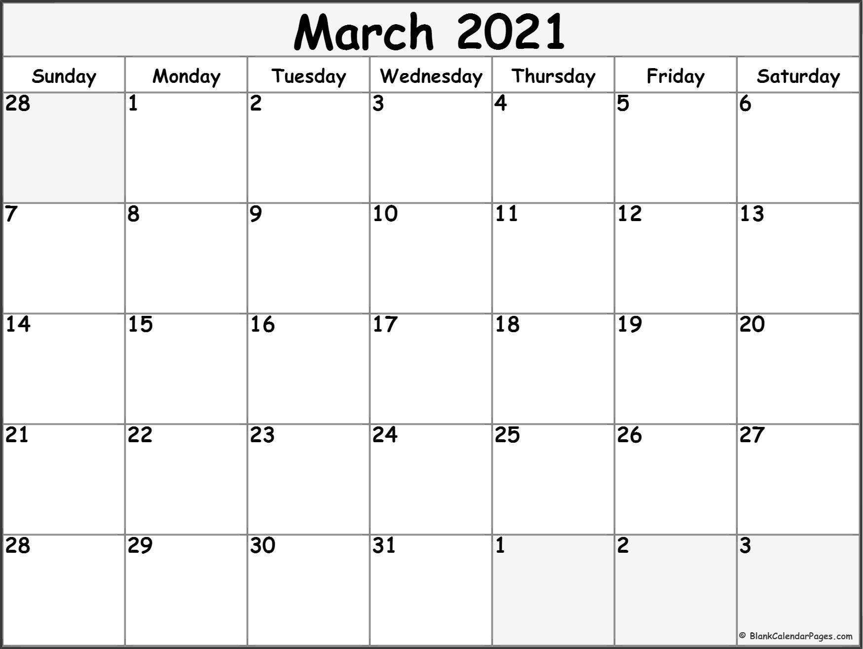 Pin On Nancy'S Board  Free Monthly Calendar Printable March 2021