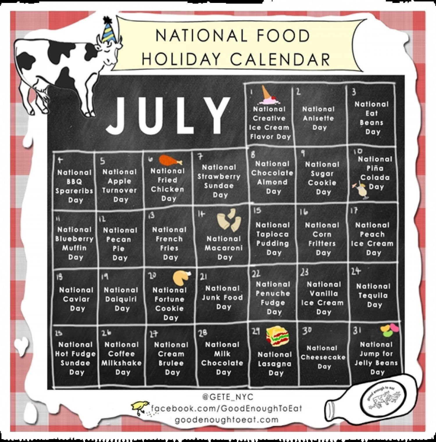 Pinjacquelyn Braiman On Food And Beverages | National  Food Of The Day Calendar