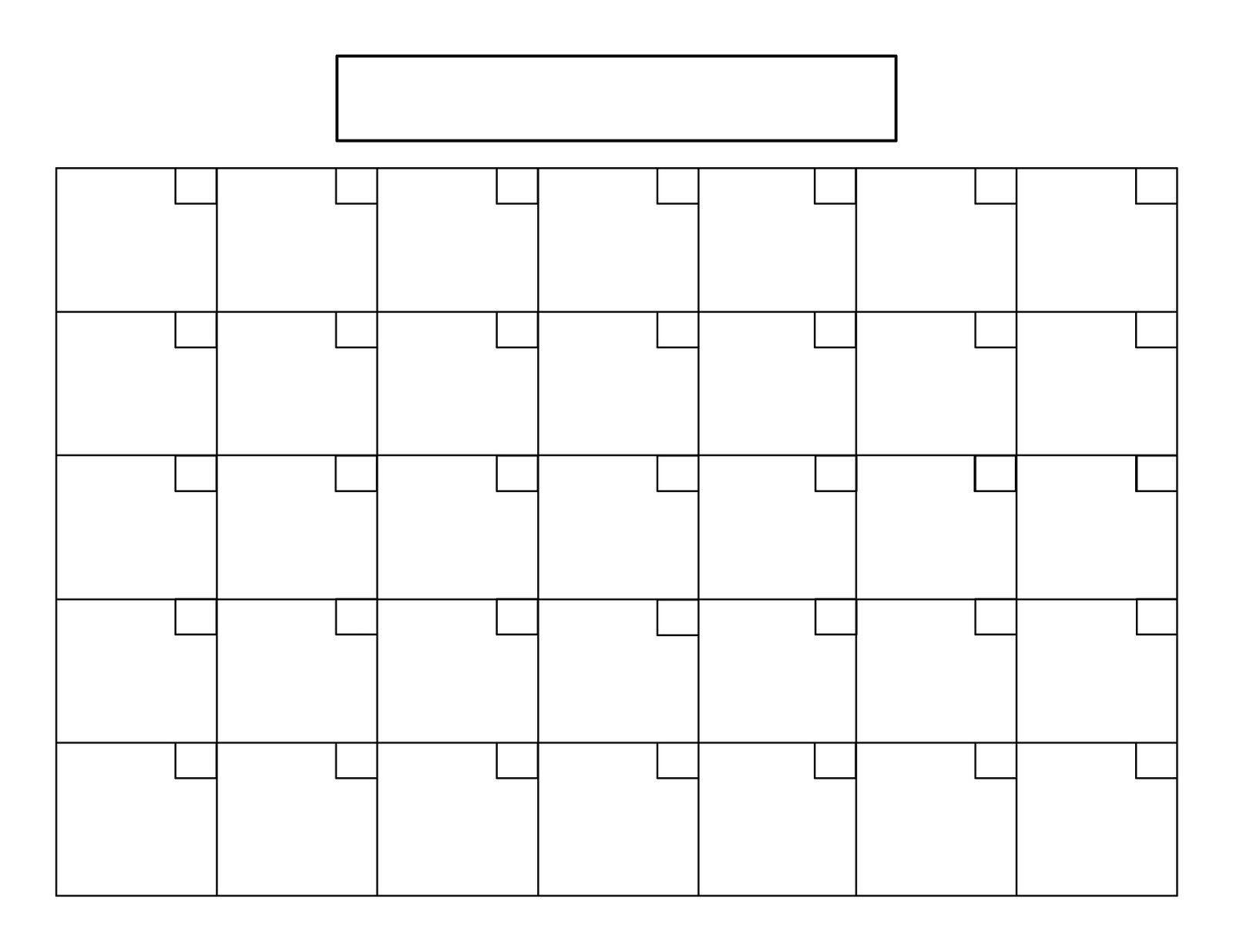 Printable 5 Day Calendar   Calendar Printables, Monthly  Blank 30-Day Calendar