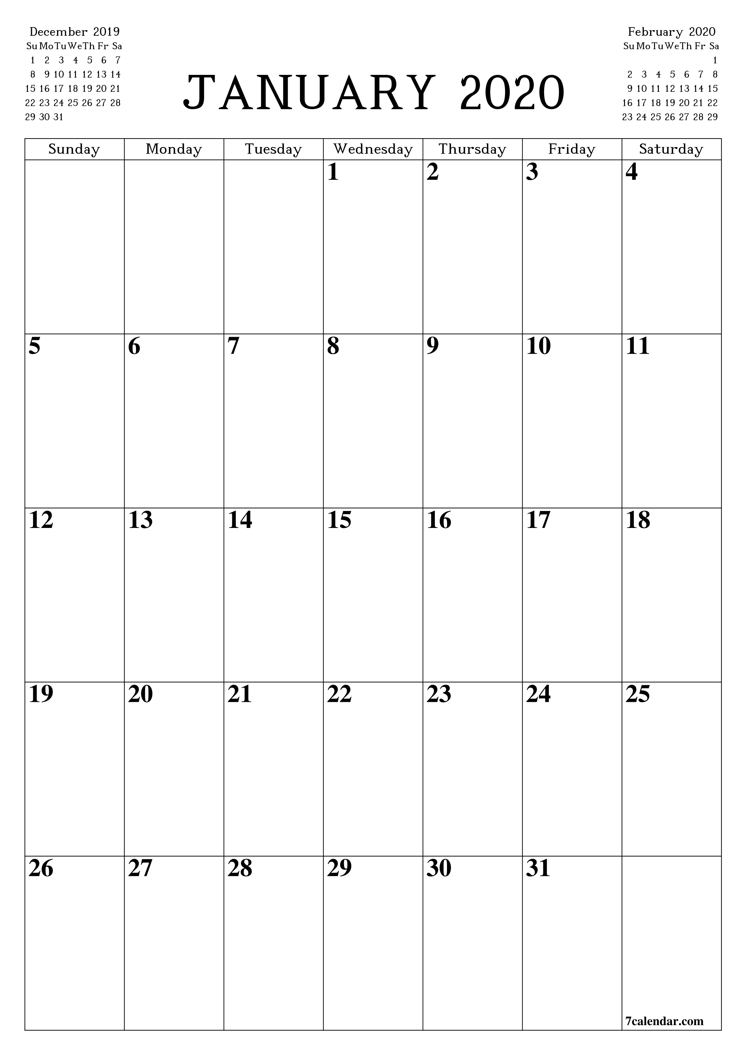 Printable Blank Calendar Planner A4, A5 And A3, Pdf And Png  A3 Calendar Template