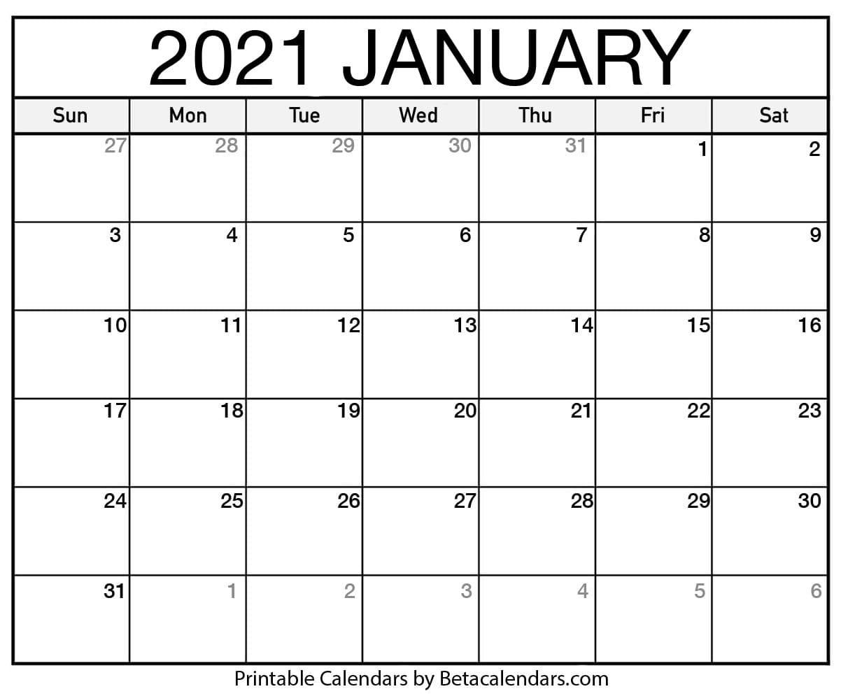 Printable Calendar 2021 | Download & Print Free Blank Calendars  Solar Calendar 2021