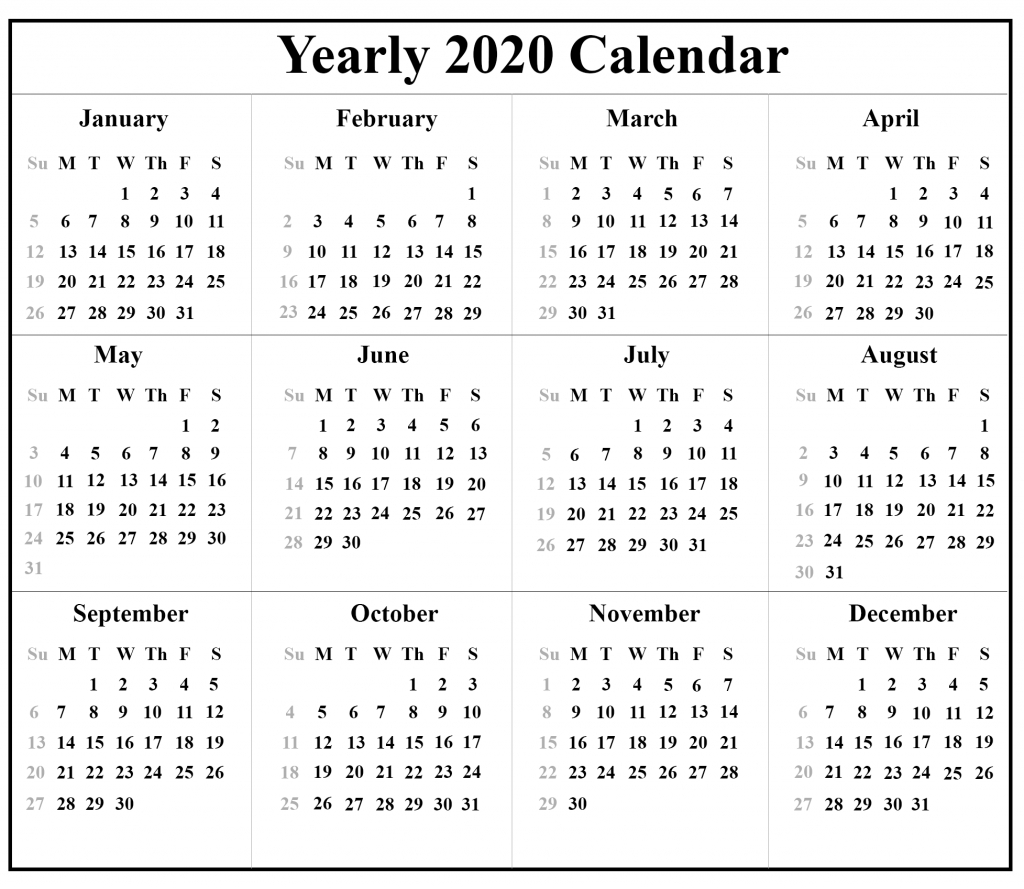 Printable Free Blank Australia 2020 Calendar [Pdf, Excel  Yearly Calendars Australia