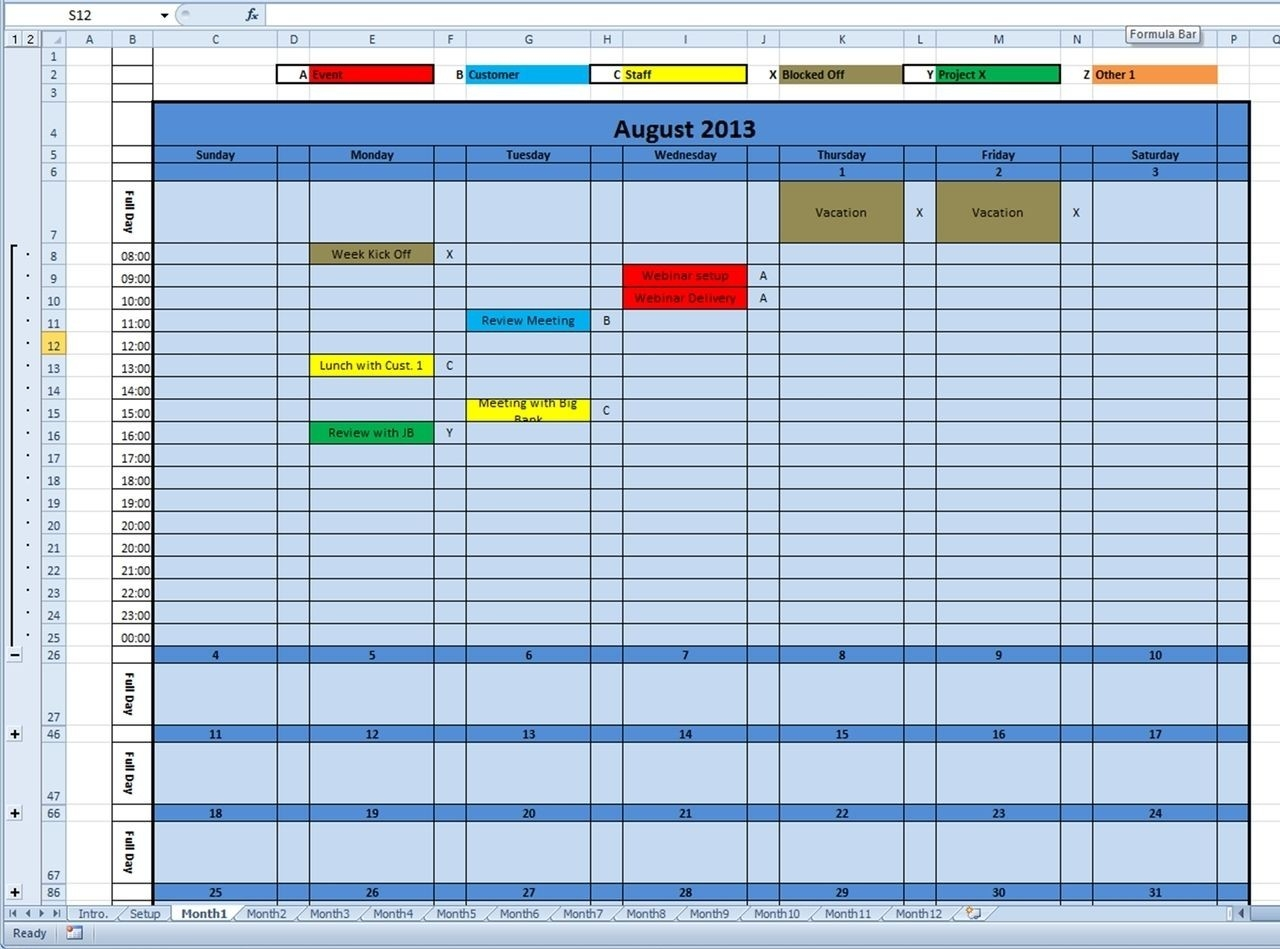 Printable Monthly Calendar For 2020, 2021 (And Future Years  Monthly Calendar Payment Excel Template