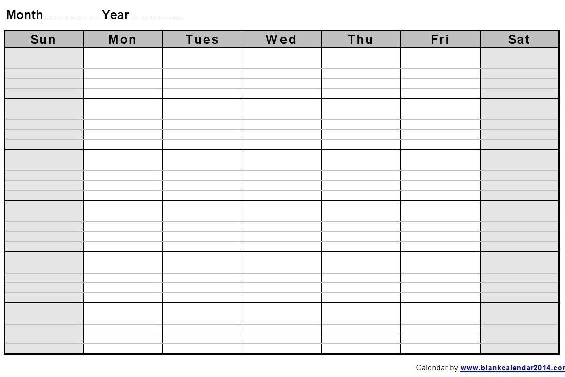 Printable Monthly Calendar With Lines In 2020 | Blank  Printable Calendars With Lines