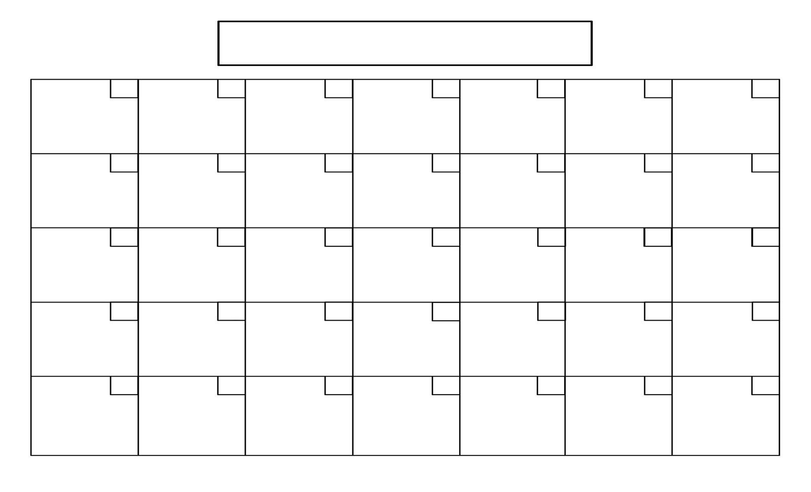 Printable+Full+Page+Blank+Calendar+Template | Blank Calendar  Full Page Blank Calendar