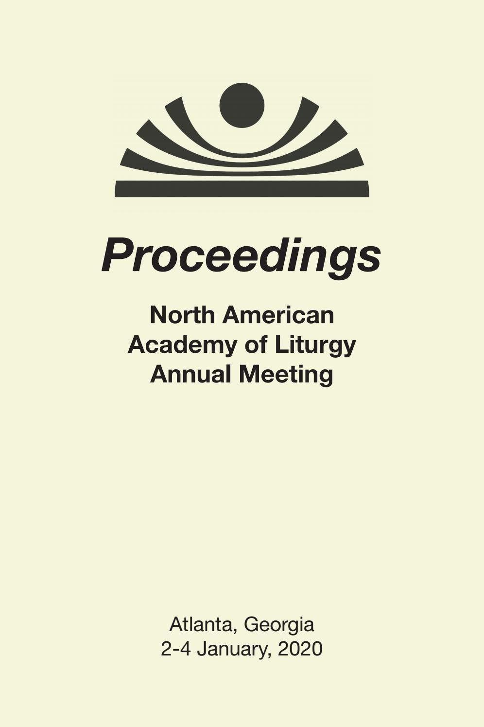 Proceedings Of The North American Academy Of Liturgy 2020  Revised Common Lectionary Feb 3Rd 2021 Methodist