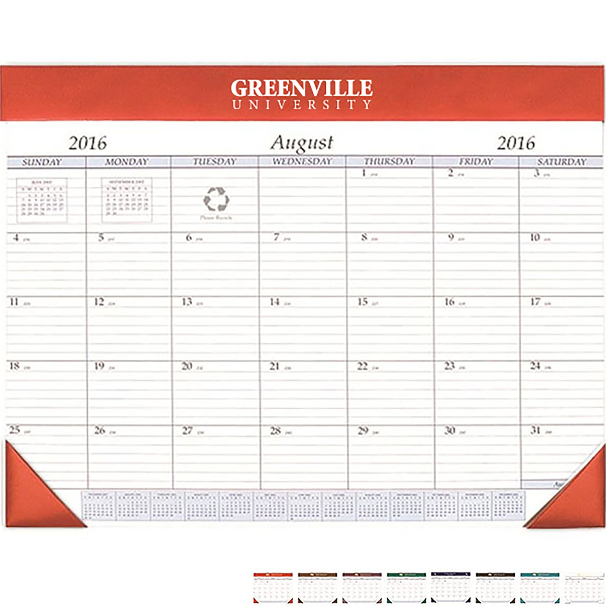 Promotional Desk Planners | Custom Printed Pocket Planners  Small Mini Checkbook Size Calenders