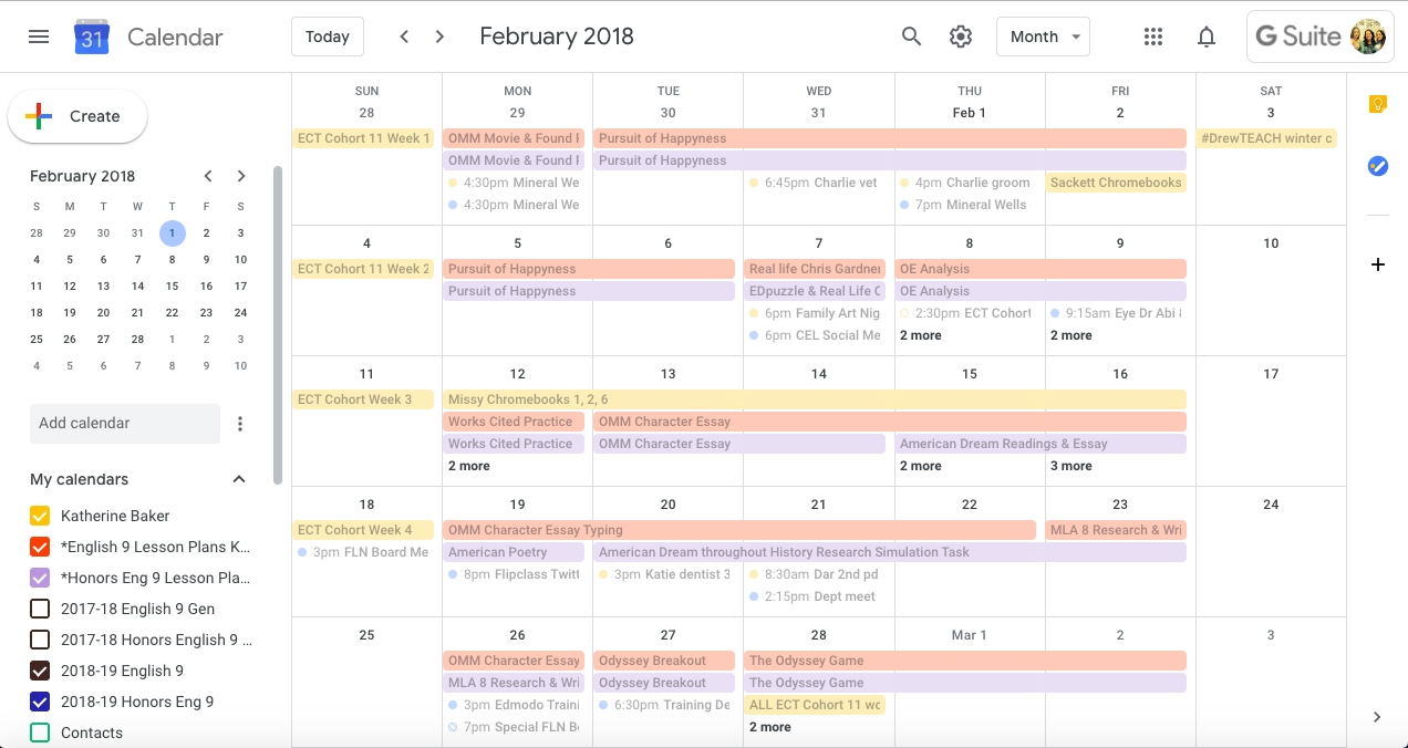 Quick, Paperless Lesson Planning With Google Calendar And  Monthly Lesson Plan Calendar