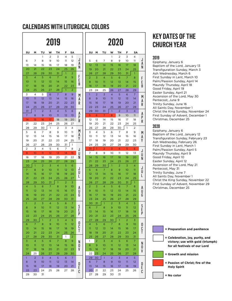 Rca Liturgical Calendar | Reformed Church In America  Presbyterian Usa Liturgical Calendar