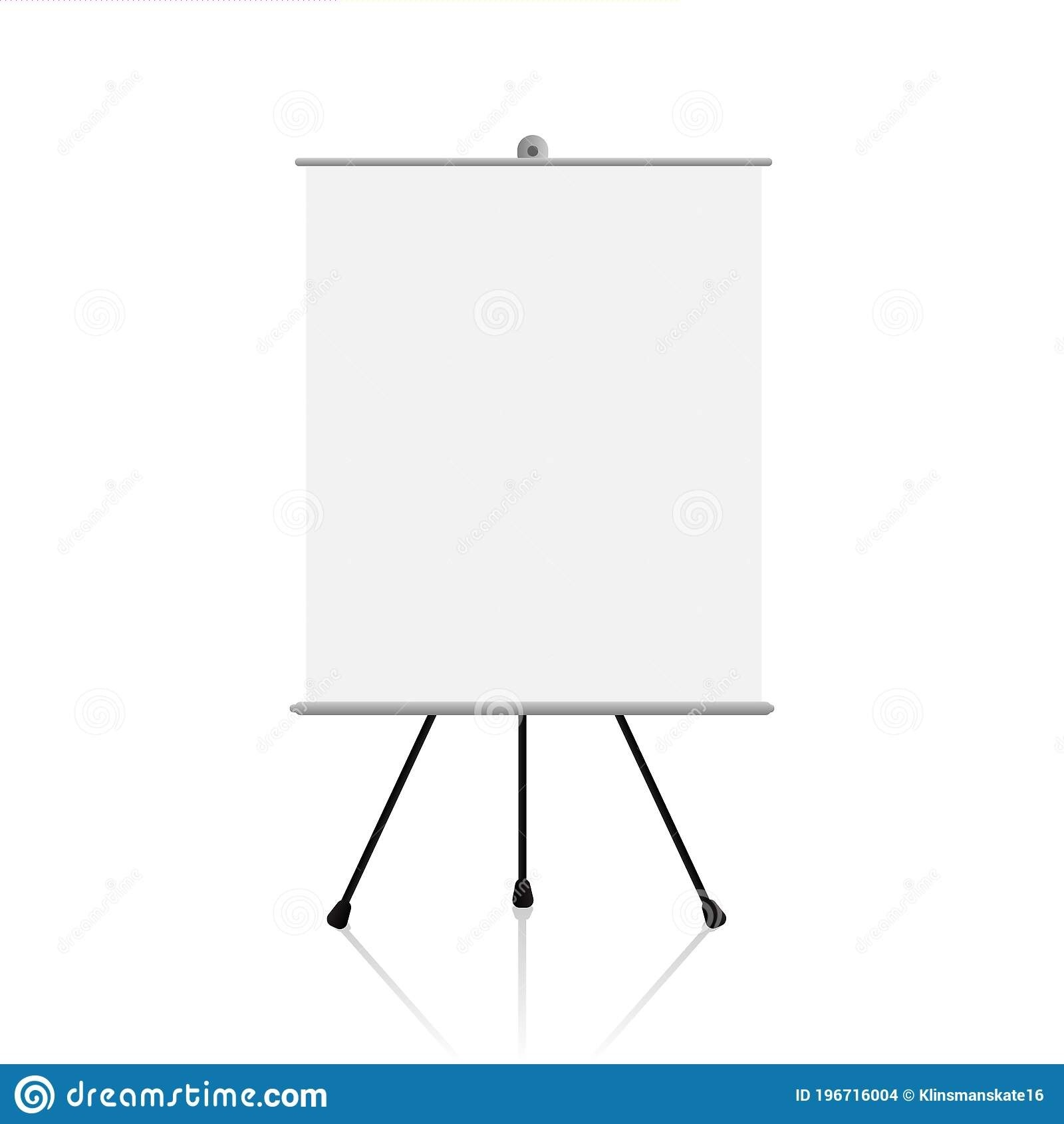 Realistic Blank And Empty Flip Chart Mockup Design Template  Flip Chart Template