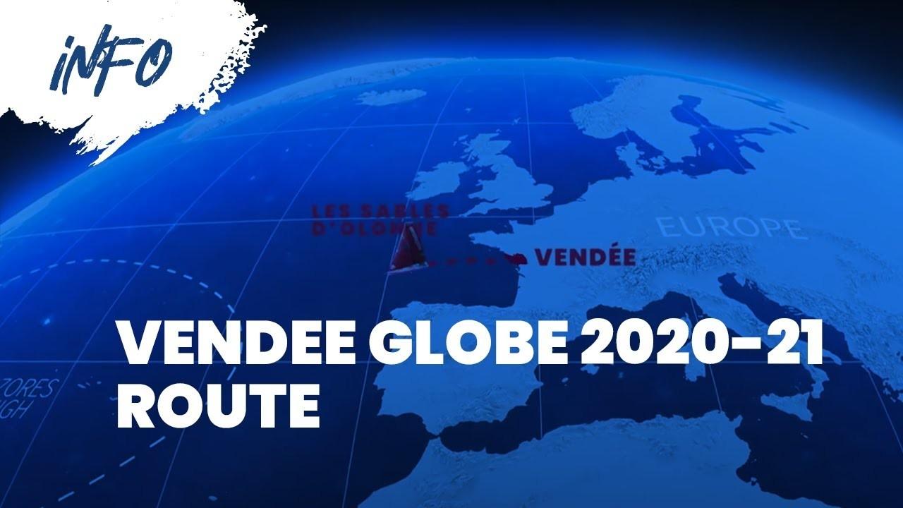 Route Of The Vendée Globe 2020/2021  2021 Southern Rutt