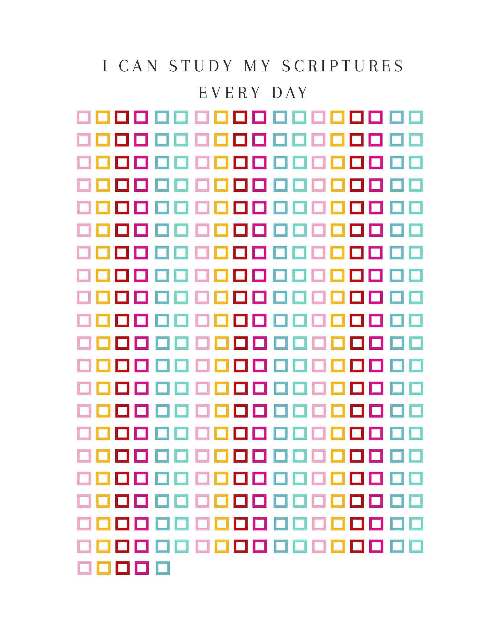 Scripture Study Calendar 365 Days Of Scripture Study | Study  365 Days Calendar