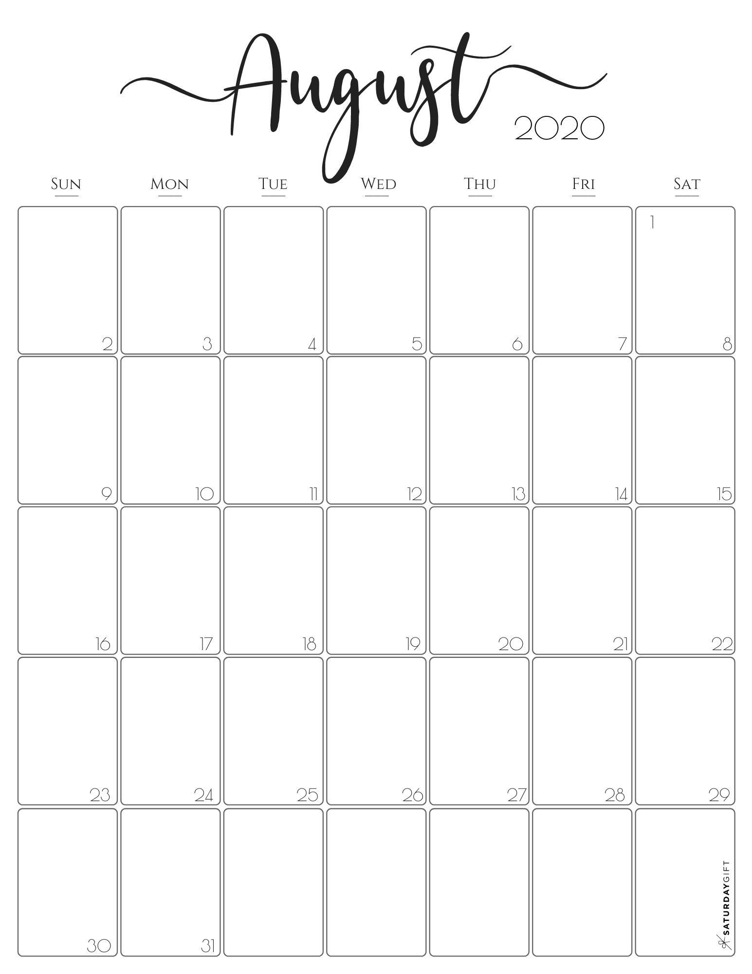 Simple & Elegant Vertical 2021 Monthly Calendar - Pretty  July 2021 Printable Calendar Girly