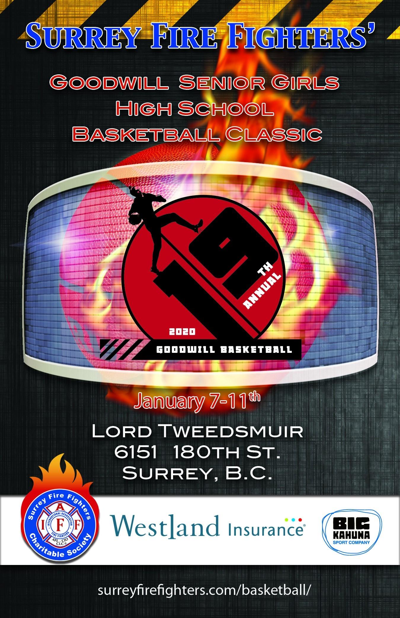 Surrey Fire Fighters Association Website » Goodwill Basketball  Firemans Scheule B