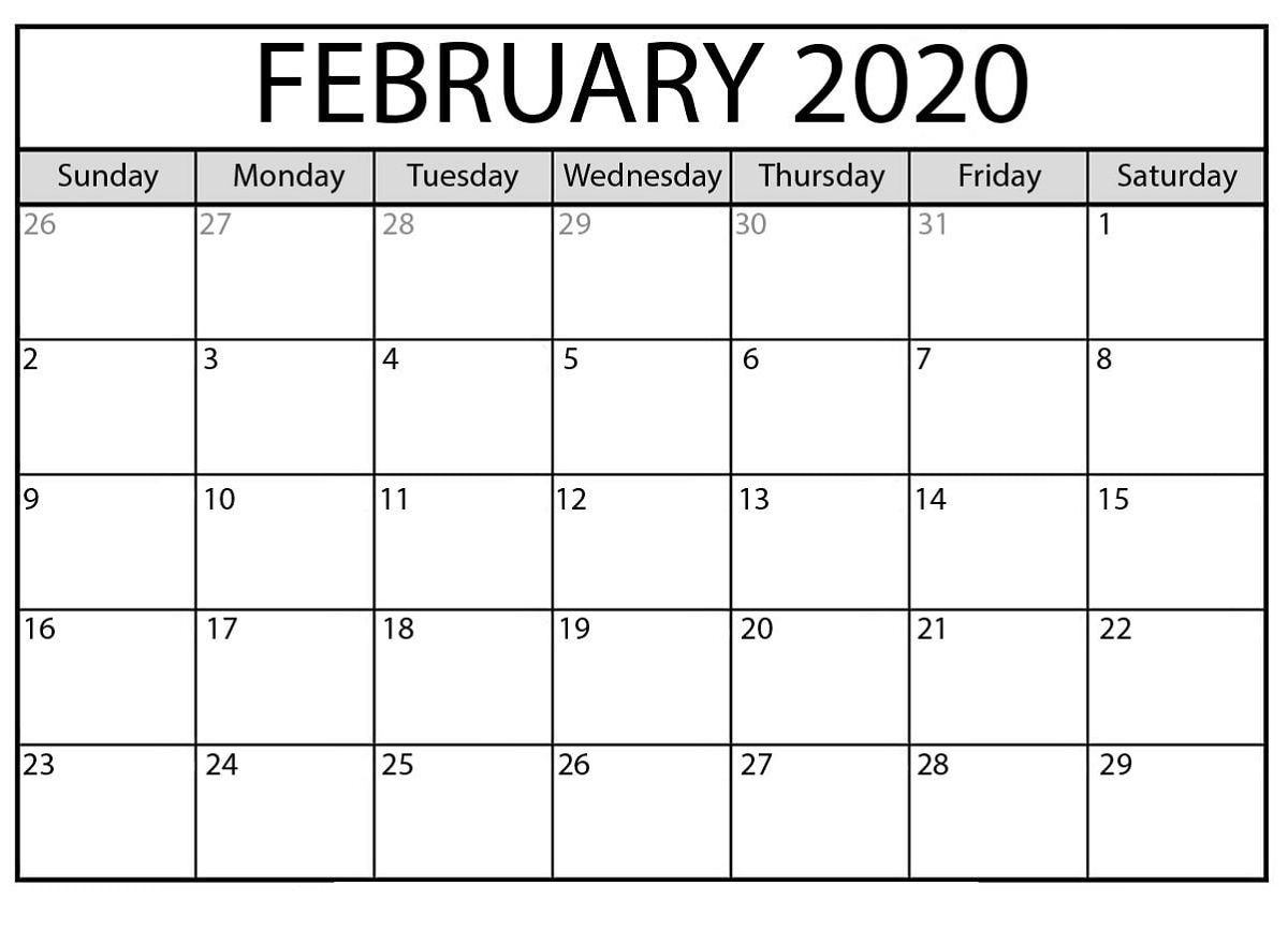 The Outstanding Free Printable Calendar Templates 2020 For  Free Calendar Templates Printable