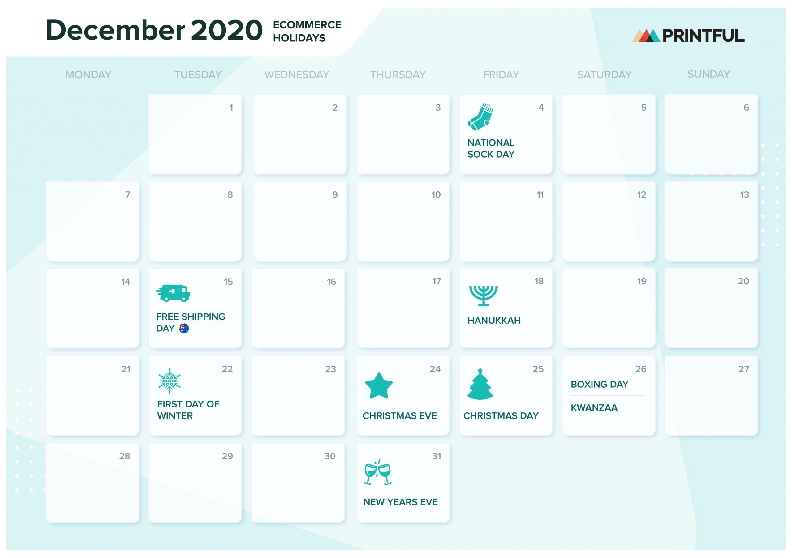 The Ultimate 2020 Ecommerce Holiday Marketing Calendar  Julien Code 2021