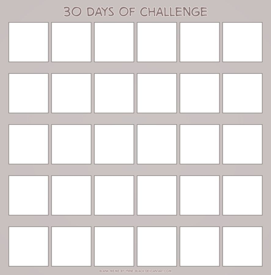 Universal Blank 30 Day Caldner Challenge In 2020   Tile  Printable 30 Day Challenge Blank Calendar