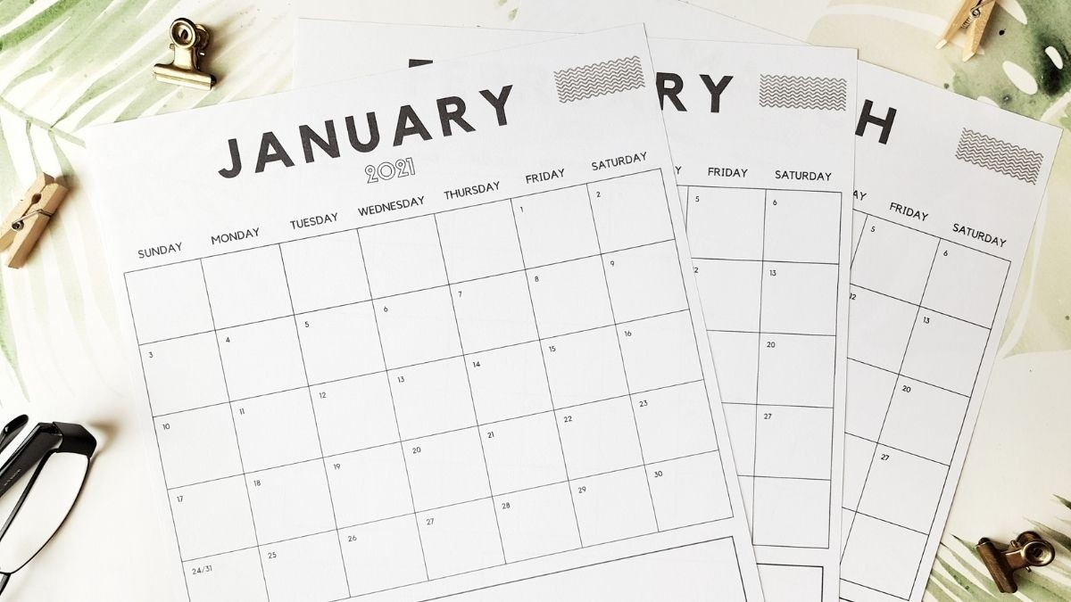 Vertical Monthly Calendar [2021 Update] - Anjahome  Depo Calendar 2021 Double Sidede