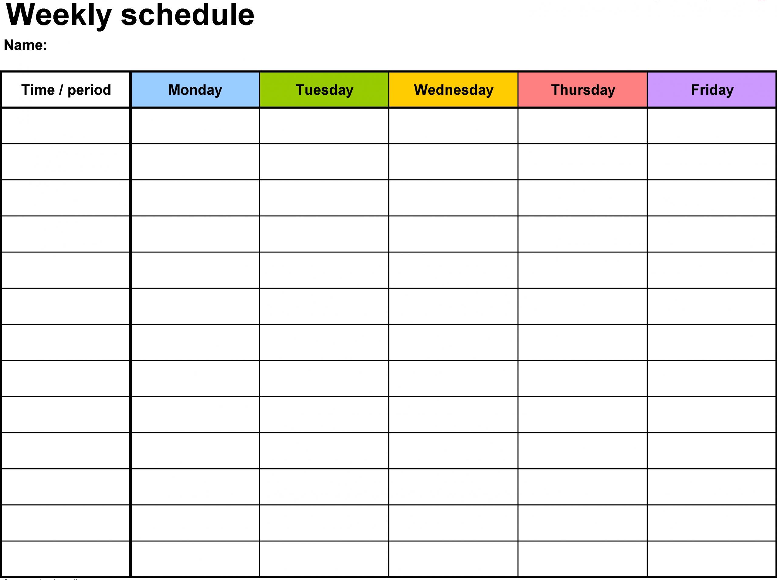 Weekly Calendar Template | Weekly Calendar Template  Excel Weekly Calendar Template