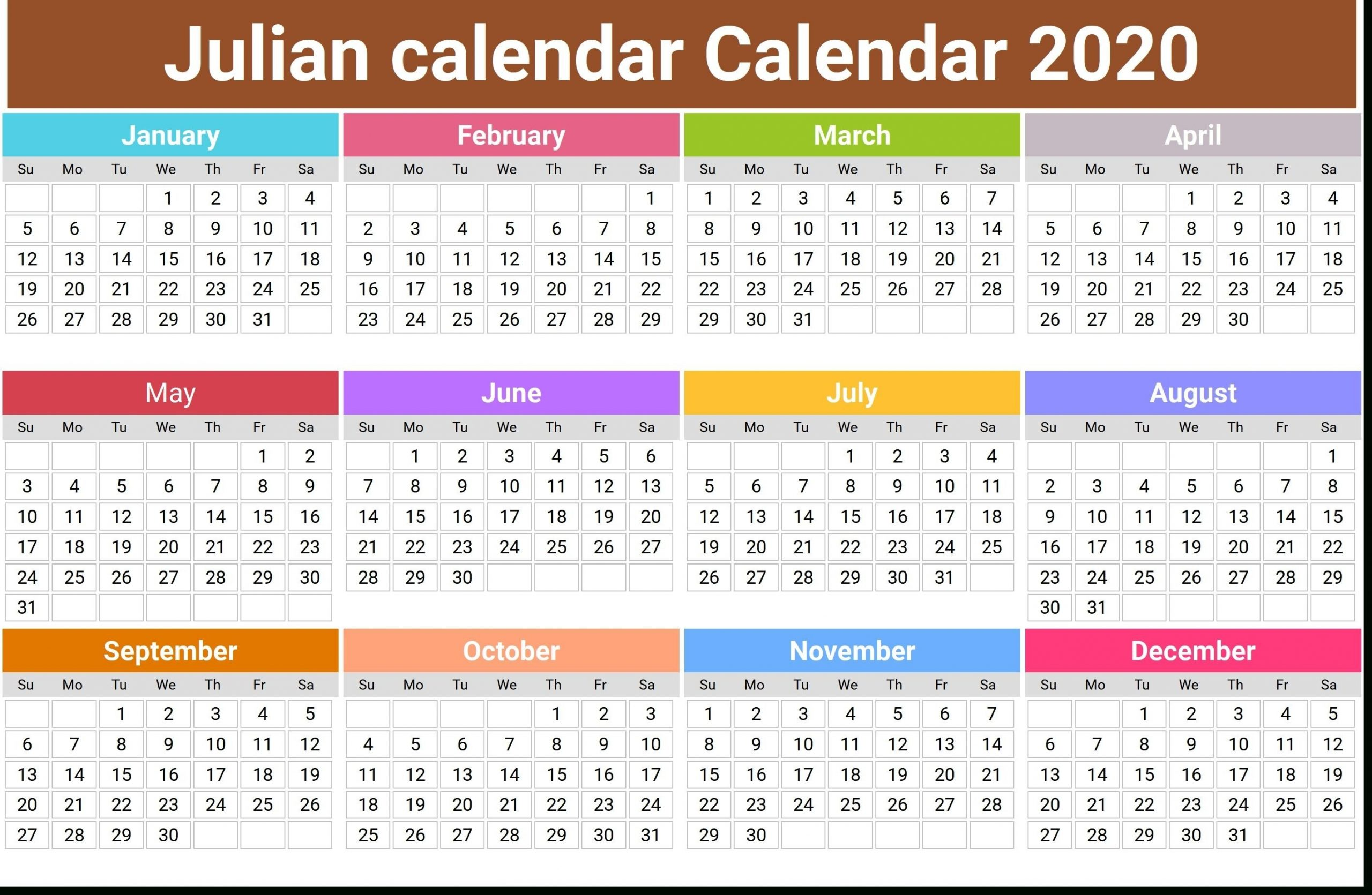 What Is The Julian Date Today In 2020 | Monthly Calendar  Military Calendar 2021, With Julian Day