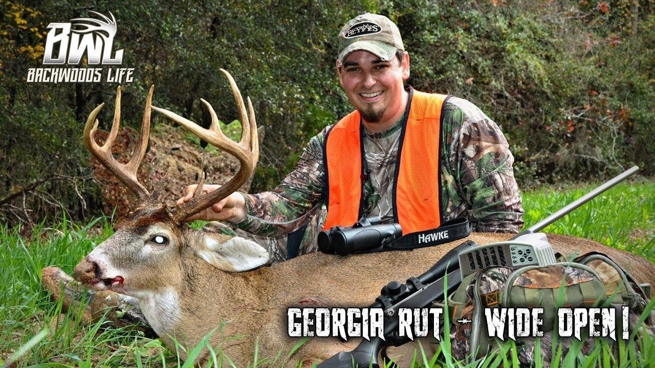 Wide Open Rut Hunt In Georgia!  Hunting In Georgia Rut