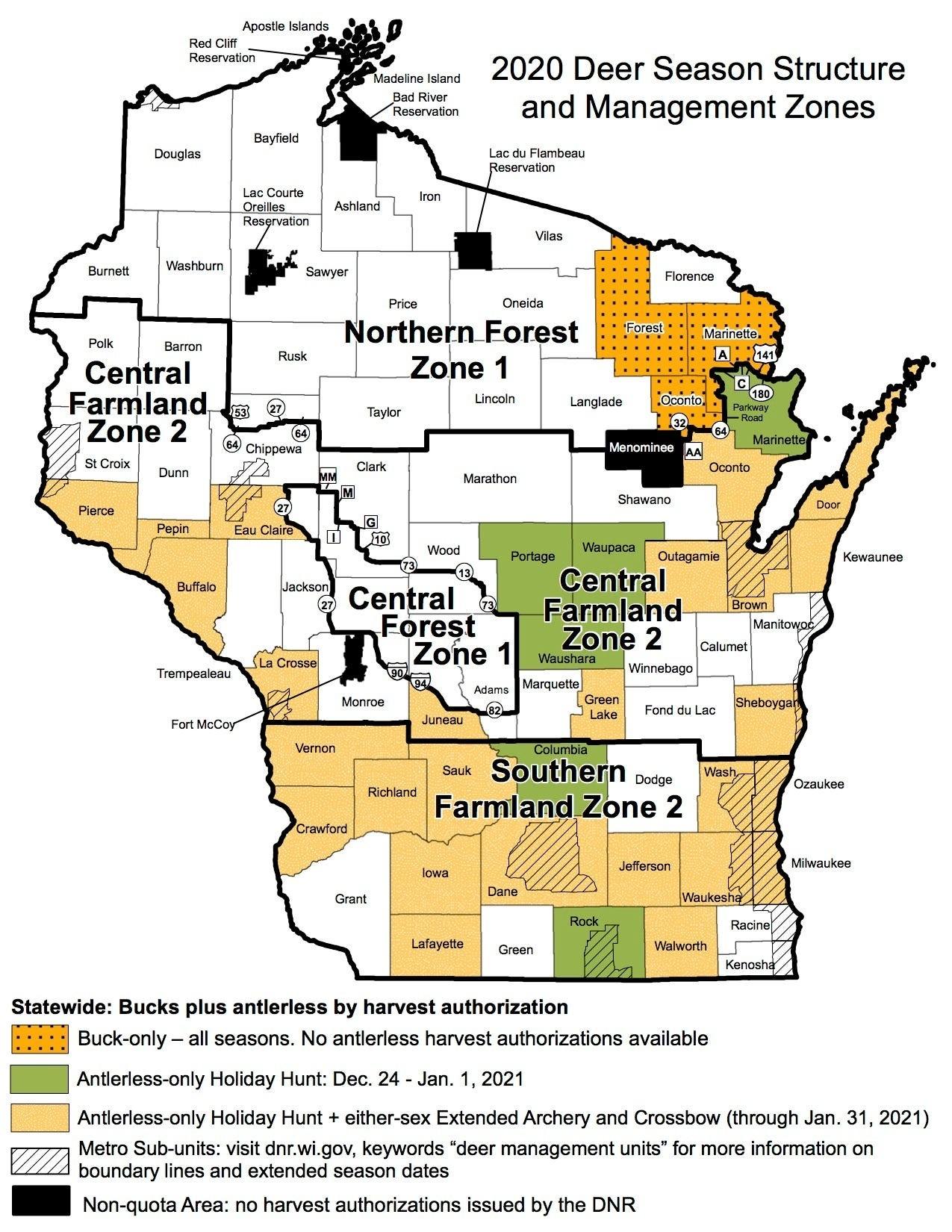 Wisconsin Deer Hunters Encouraged To Follow Coronavirus  Wisconsin Deer Rut Dates 2021