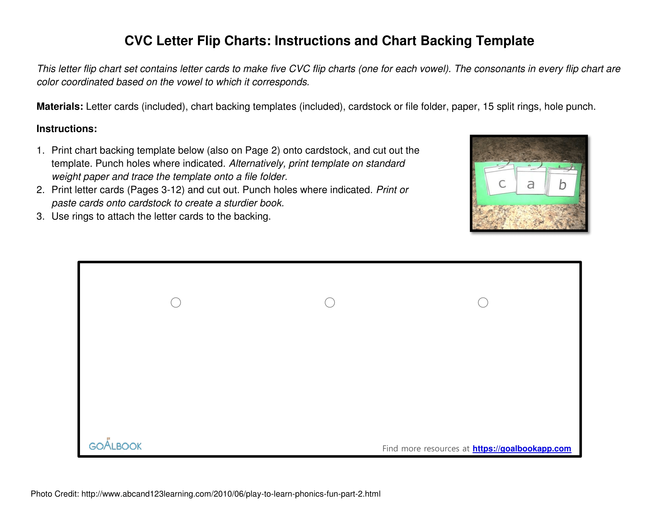 Word Wheels And Letter Flip Charts | Udl Strategies  Flip Chart Template For Word
